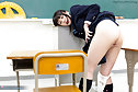 Nonomiya Misato masturbating and sucking cock in classroom