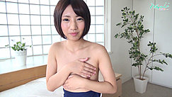 Nozomi Covering Her Small Breasts With Her Hands Short Hair