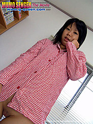 Hand Raised To Her Face Japanese Teen Ran Amami Baring Shaved Pussy In Pyjamas