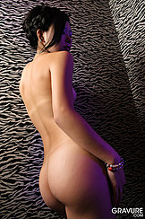 Rear Nude View Firm Round Bare Ass
