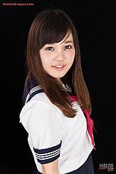 Kogal In Seifuku Uniform Long Hair Falling Over Her Chest