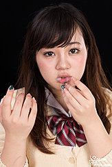 Student Yamamoto Erena Licking Cum From Her Fingers