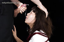 Kogal Kitahara Chiaki tied up face fucked and taking facial