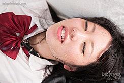 Student Shirayuki Yuka Wearing Uniform Cum On Her Face