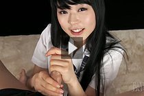 Long Haired Cute Student Kawagoe Yui Giving Handjob